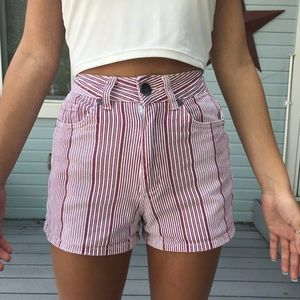 Striped High Waisted Cotton On Shorts